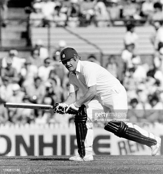 David Bairstow of England batting during the 2nd Benson and Hedges World Series Cup FInal between England and West Indies at the SCG, Sydney,...