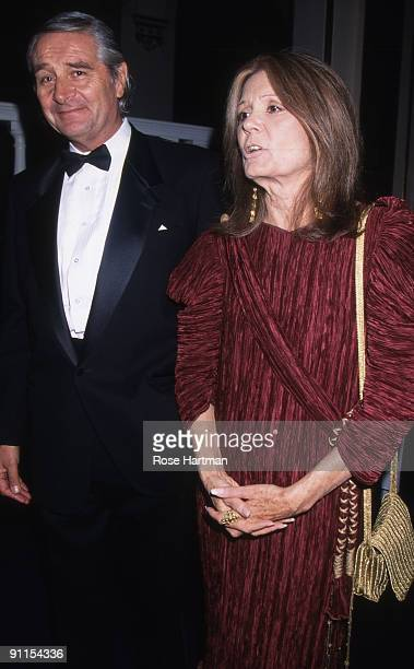 David Bale and wife Gloria Steinem at a gala held at New York City's Plaza Hotel 2000