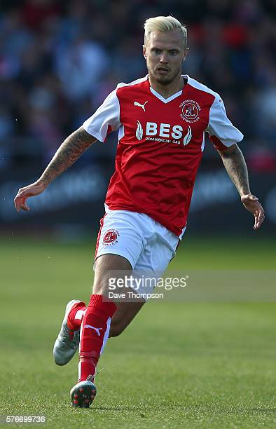 David Ball of Fleetwood Town during the PreSeason Friendly match between Fleetwood Town and Liverpool at Highbury Stadium on July 13 2016 in...