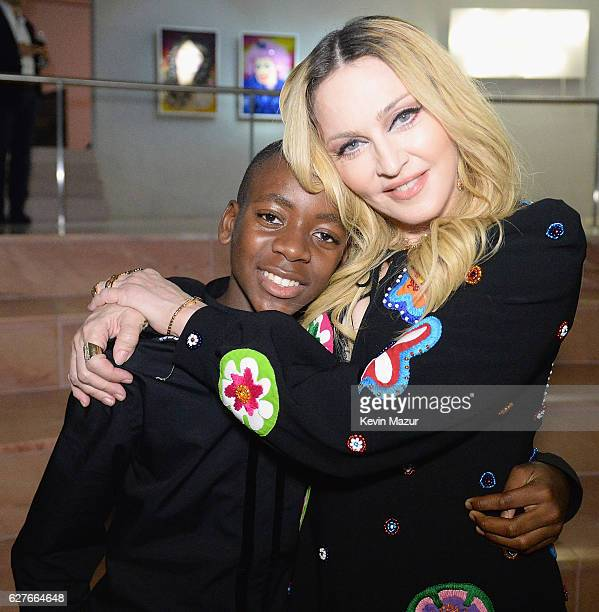 David Banda and Madonna at her Evening of Music Art Mischief and Performance to Benefit Raising Malawi at Faena Forum on December 3 2016 in Miami...