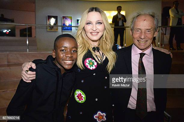 David Banda Madonna and Dr Eric Borgstein attend Madonna presents An Evening of Music Art Mischief and Performance to Benefit Raising Malawi at Faena...