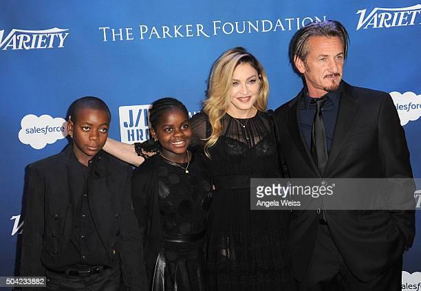 David Banda Mercy James musician Madonna and host Sean Penn attend the 5th Annual Sean Penn Friends HELP HAITI HOME Gala benefiting J/P Haitian...