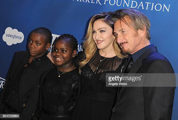 David Banda Mercy James musician Madonna and host Sean Penn attend the 5th Annual Sean Penn Friends HELP HAITI HOME Gala benefiting J/P Haitian...