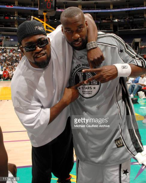 David Banner and Baron Davis during A Midsummer Night's AllStar Basketball Game on July 9 2006 at the Staples Center in Los Angeles Calif