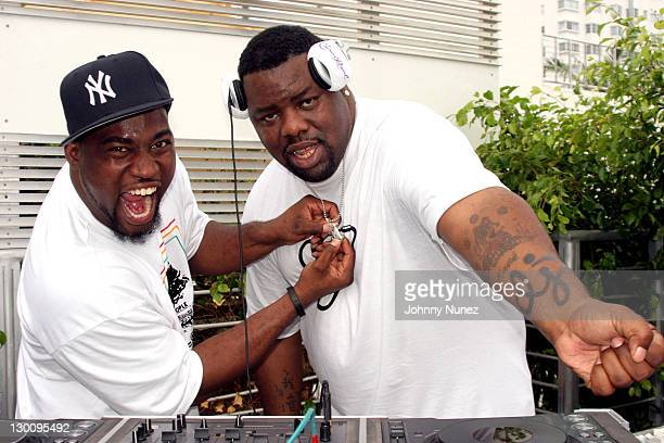 David Banner and DJ Biz Markie during 2005 MTV VMA John Singelton Party Hosted by DJ Biz Markie and Snoop Dogg at Sanctuary Hotel in Miami Florida...