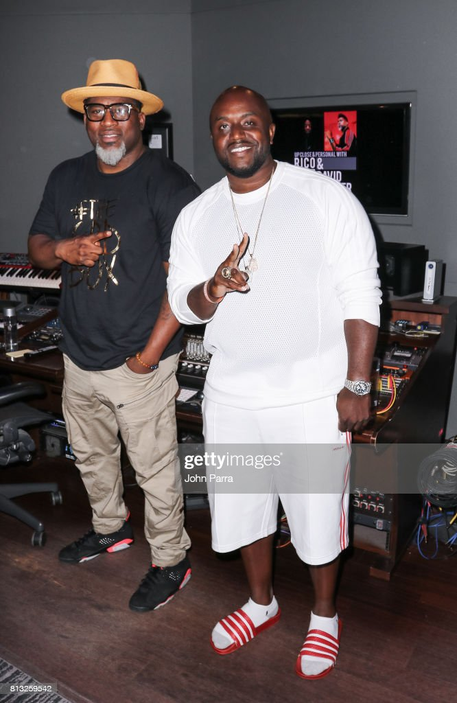 David Banner and Rico Love attend the Up Close & Personal with Rico Love and David Banner for The Recording Academy at Studio 26 on July 11, 2017 in Miami, Florida.