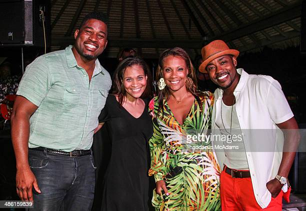 David Banner Judge Terrinee Gundy Heather Hayslett and Will Packer attend Will Packer's 40th Birthday Celebration Weekend on April 12 2014 in Nassau...