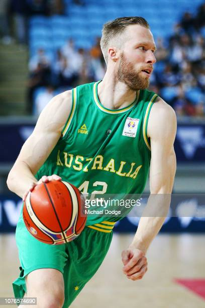 David Barlow of the Boomers runs with the ball during Australia v Qatar the FIBA World Cup Qualifier on December 03 2018 in Melbourne Australia