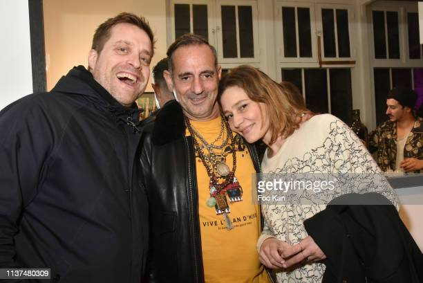 David Barrois, Biitchy Jose and actress Draghixa atend 'The French Touch from A to Z' Gilles Petipas Photo Exhibition Party at 14 Rue Vertbois...