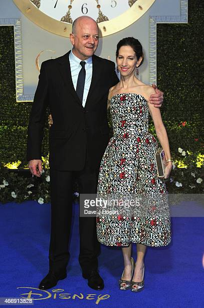 David Barron and Allison Shearmur attend the UK Premiere of 'Cinderella' at Odeon Leicester Square on March 19 2015 in London England