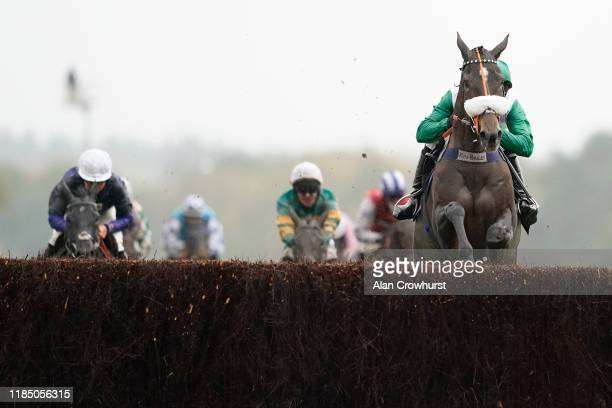 David Bass riding Vinndication clear the last to win The Sodexo Gold Cup Handicap Chase at Ascot Racecourse on November 02, 2019 in Ascot, England.