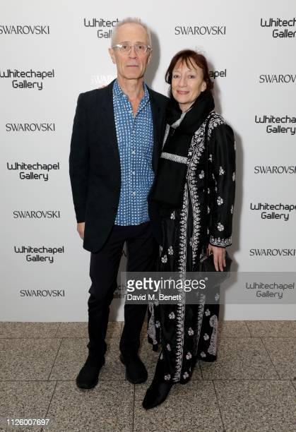 David Batchelor and Ann Gallagher attend a glamorous gala dinner at Whitechapel Gallery as Rachel Whiteread is celebrated as the recipient of the...