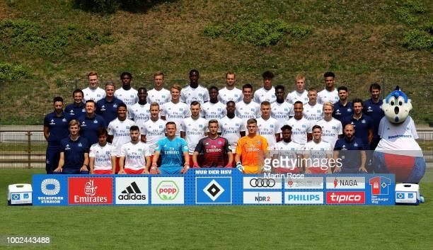 David Bates of Hamburger SV poses during the team presentation at on July 20 2018 in Hamburg Germany