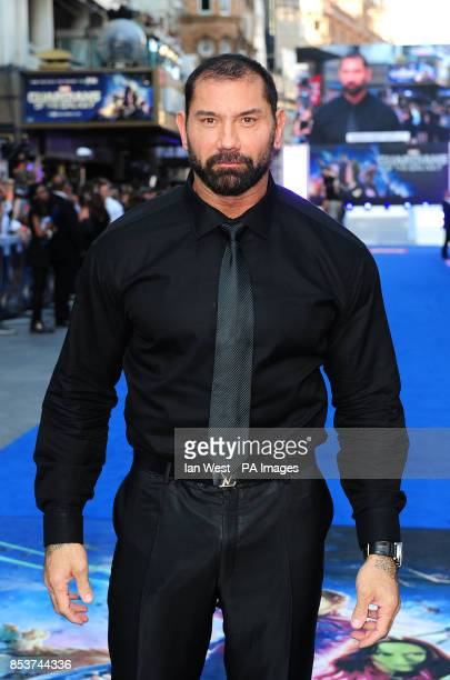 David Bautista attending the premiere of Guardians Of The Galaxy at the Empire cinema in London