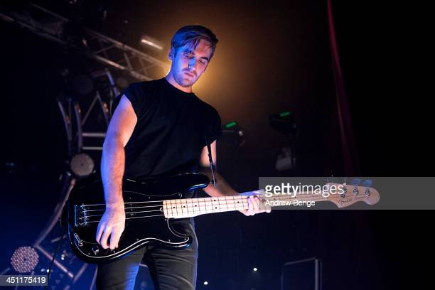 David Beadle of The Naked And Famous performs on stage at Ritz Manchester on November 21 2013 in Manchester United Kingdom