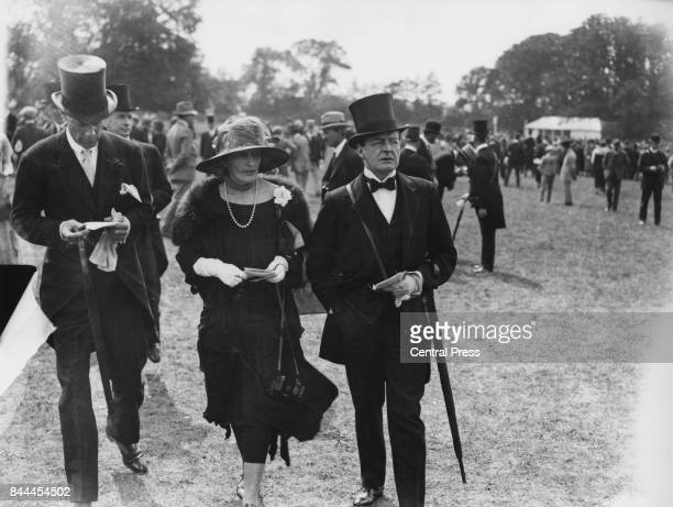 David Beatty 1st Earl Beatty the First Sea Lord with Lady Beatty at the 1924 Derby Day race meeting at Epsom UK