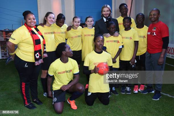 David Beckham and the Millwall Academy attend the World Aids Day Charity Gala aimed at using football to educate and inspire vulnerable young people...