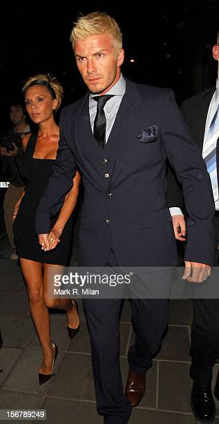 David Beckham and Victoria Beckham are seen on May 25, 2007 in London, England.