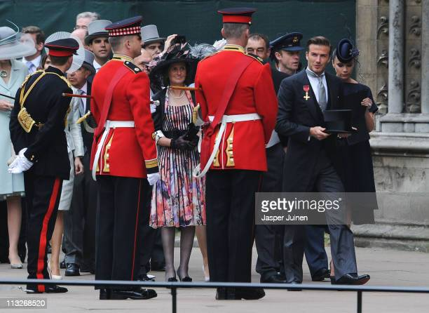 David Beckham and Victoria Beckham arrive to attend the Royal Wedding of Prince William to Catherine Middleton at Westminster Abbey on April 29, 2011...