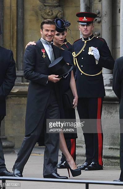 David Beckham And Victoria Arriv