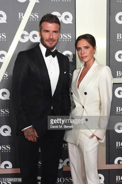 David Beckham and Victoria Beckham attend GQ Men Of The Year Awards 2019 in association with HUGO BOSS at Tate Modern on September 03 2019 in London...