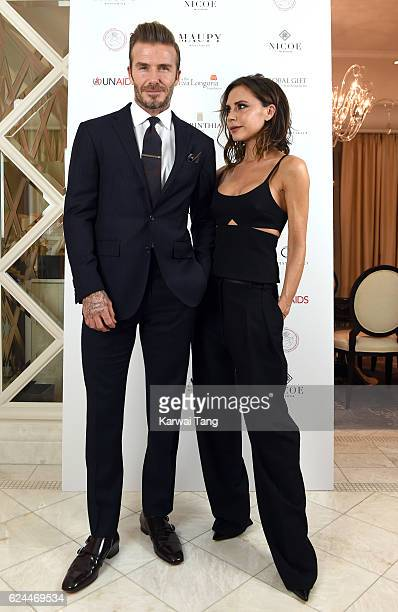 David Beckham and Victoria Beckham attend the Global Gift Gala in partnership with Quintessentially on November 19 2016 at the Corithinia Hotel in...