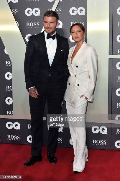David Beckham and Victoria Beckham attend the GQ Men Of The Year Awards 2019 at Tate Modern on September 03 2019 in London England