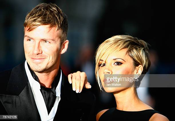 David Beckham and Victoria Beckham attend the Sport Industry Awards 2007 at Old Billingsgate on March 29 2007 in London England