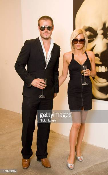 David Beckham and Victoria Beckham lookalike attend the Phillips De Pury and Company and Taschen Party to launch Confidential by Alison Jackson at...