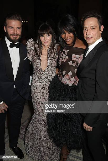 David Beckham Annabelle Neilson Naomi Campbell and Jamie Hince attend the Alexander McQueen Savage Beauty Fashion Gala at the VA presented by...