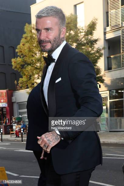 David Beckham arrives for The Sun's Who Cares Wins Awards 2021 at The Roundhouse sighting on September 14, 2021 in London, England.