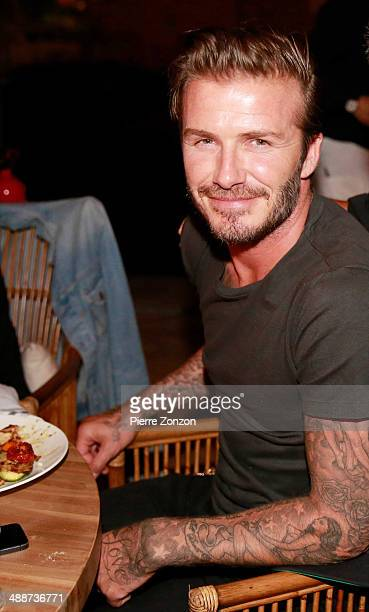 David Beckham at Seasalt and Pepper in Miami on May 7 2014 in Miami Florida