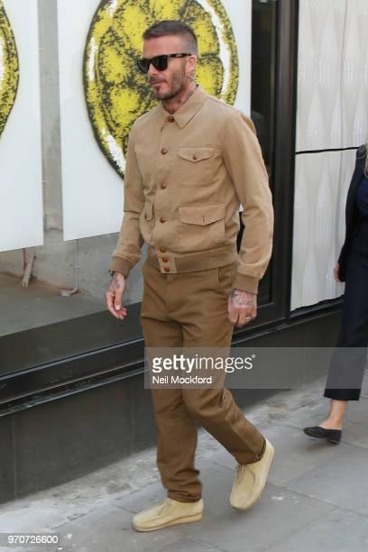 David Beckham attending the Kent Curwen presentation during LFWM June 2018 on June 10 2018 in London England