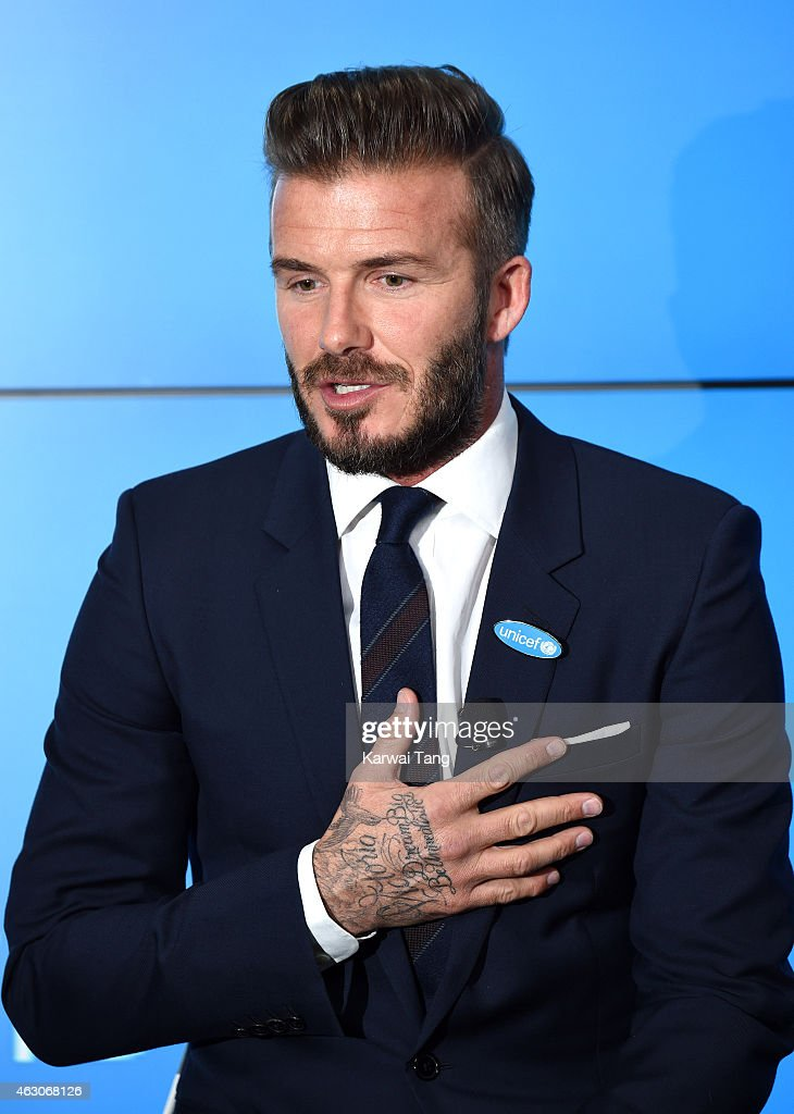 David Beckham Celebrates 10 Years As A UNICEF Goodwill Ambassador - Photocall : News Photo
