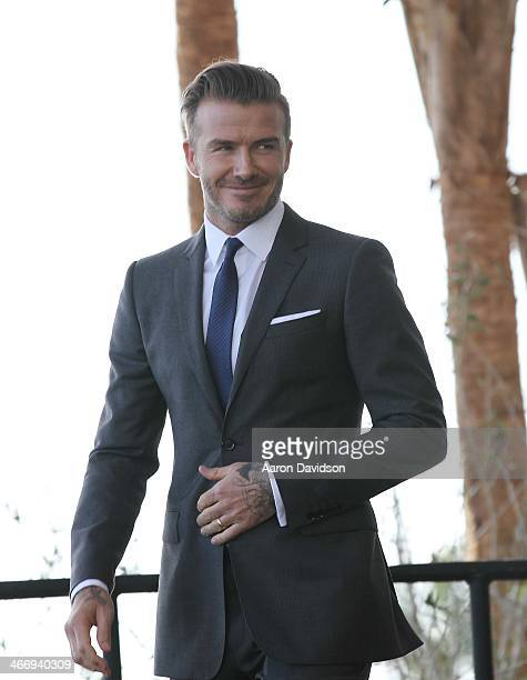 David Beckham attends a press conference to announce their plans to launch a new Major League Soccer franchise at PAMM Art Museum on February 5 2014...