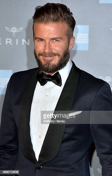 David Beckham attends a private view for the 'Alexander McQueen Savage Beauty' exhibition at Victoria Albert Museum on March 12 2015 in London England