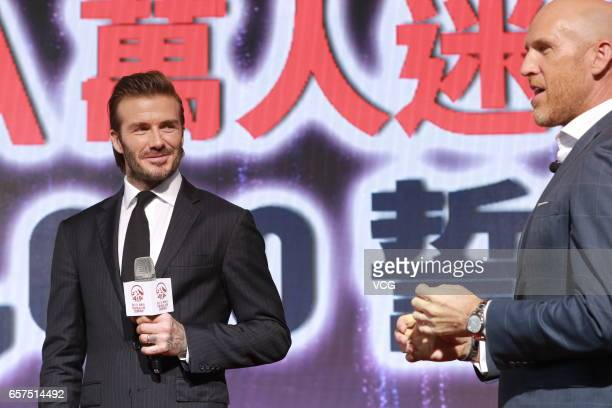 David Beckham attends AIA MDRT event at Central Harbourfront Event Space on March 24 2017 in Hong Kong China