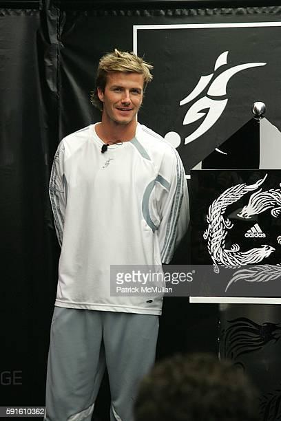 David Beckham attends David Beckham and Adidas Unveils the New David Beckham Predator Pulse Boot and Predator Product Line at Adidas Store on June 1...