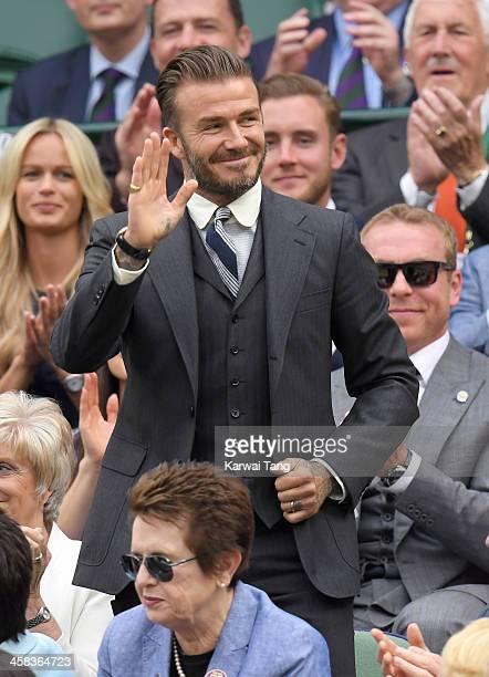 David Beckham attends day six of the Wimbledon Tennis Championships at Wimbledon on July 02, 2016 in London, England.