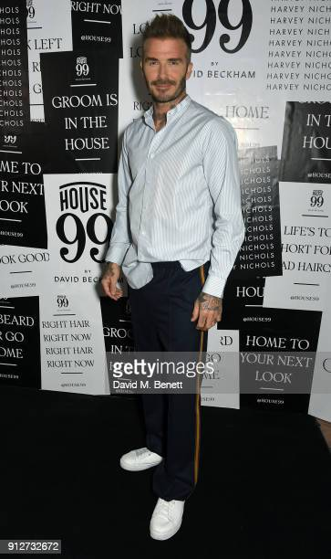David Beckham attends House 99 brand launch at Harvey Nichols on January 31 2018 in London England