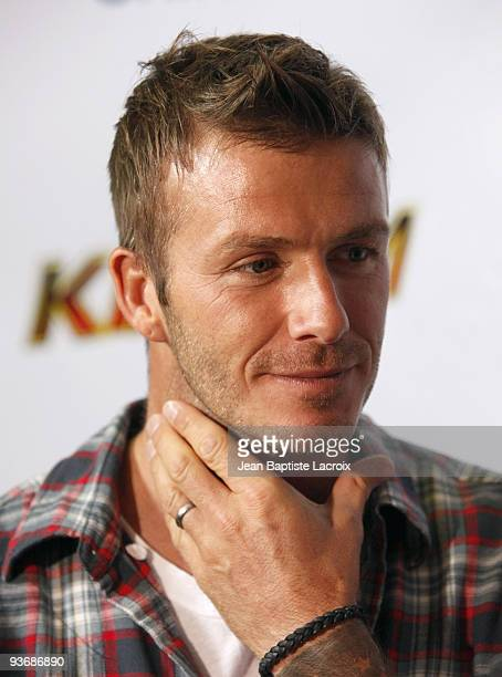 David Beckham attends The 4th Annual Radio Lollipop Anniversary Live Broadcast And Fundraiser at the CHOC Children's Hospital on September 15 2009 in...