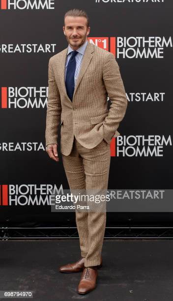 David Beckham attends the 'Biotherm Homme' photocall at Casa de Velazquez on June 20, 2017 in Madrid, Spain.