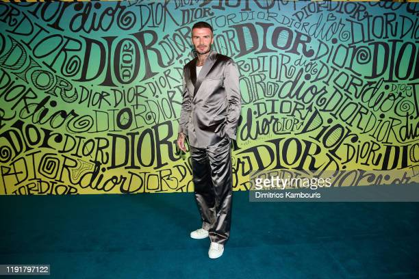 David Beckham attends the Dior Men's Fall 2020 Runway Show on December 03 2019 in Miami Florida