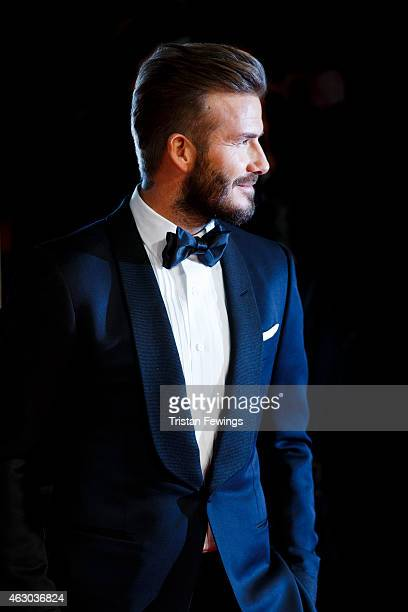 David Beckham attends the EE British Academy Film Awards at The Royal Opera House on February 8 2015 in London England