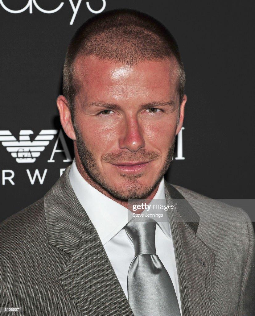 David Beckham Unveils Emporio Armani Ad At Macys Union Square - David beckham armani hairstyle