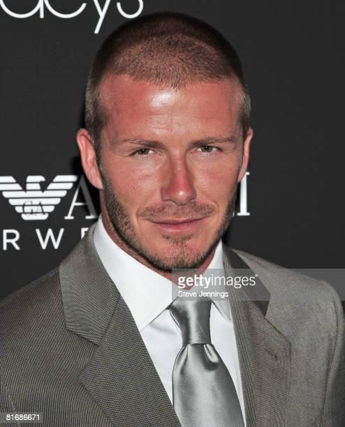 David Beckham attends the Emporio Armani Campaign at Union Square Park on June 18, 2008 in San Francisco, California.