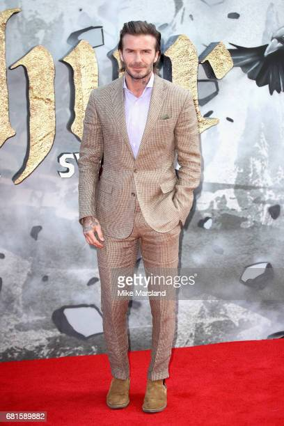 David Beckham attends the European premiere of 'King Arthur Legend of the Sword' at Cineworld Empire on May 10 2017 in London United Kingdom