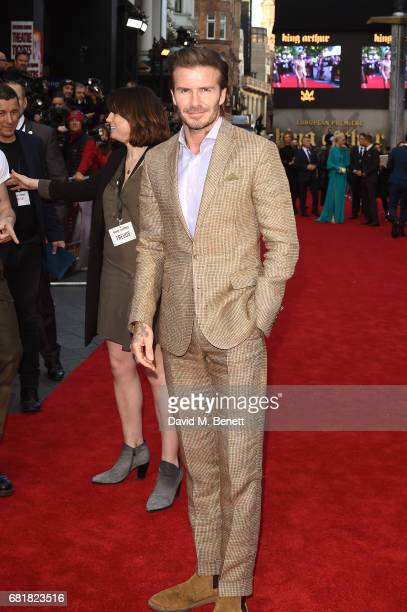 """David Beckham attends the European Premiere of """"King Arthur: Legend of the Sword"""" at Cineworld Empire on May 10, 2017 in London, United Kingdom."""