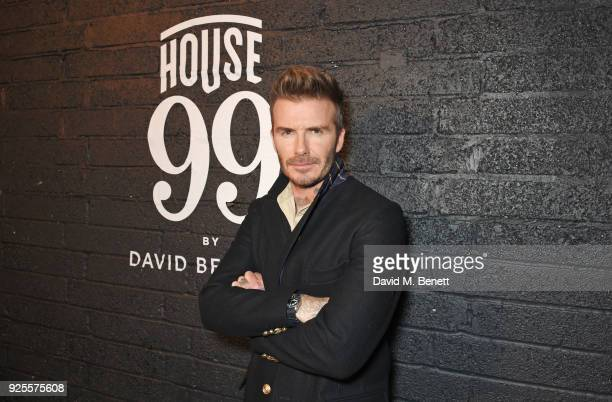 David Beckham attends the global launch of new grooming brand 'HOUSE 99 by David Beckham' at Electrowerkz on February 28 2018 in London England