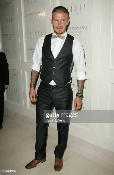 David Beckham attends the Gordon Ramsey Restaurant Opening at The London on June 4 2008 in West Hollywood California
